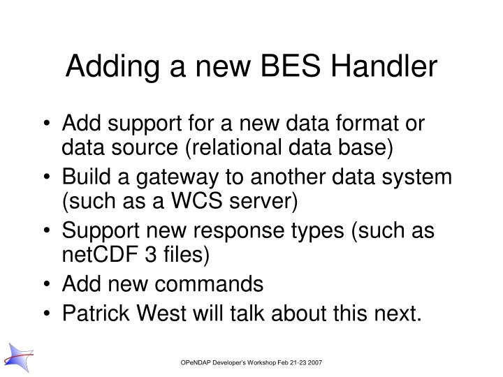 Adding a new BES Handler