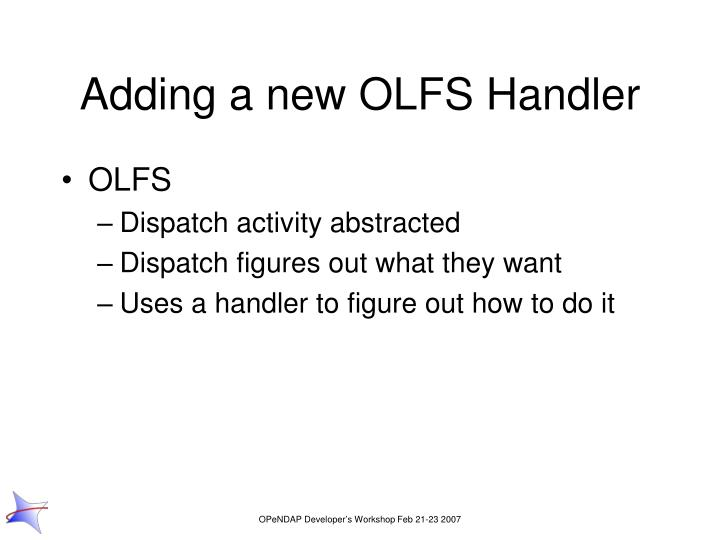 Adding a new OLFS Handler