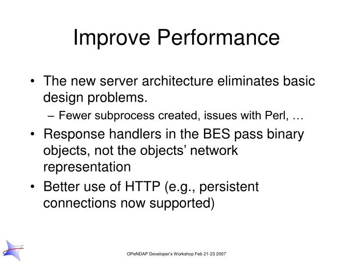 Improve Performance