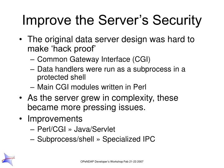 Improve the Server's Security