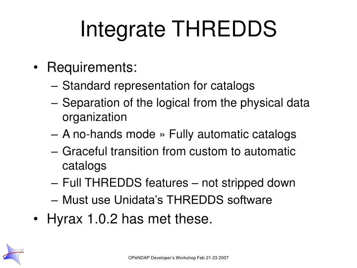 Integrate THREDDS