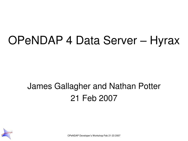 Opendap 4 data server hyrax