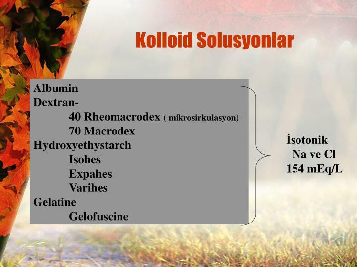 Kolloid Solusyonlar