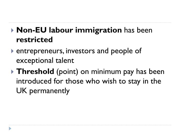 Non-EU labour immigration