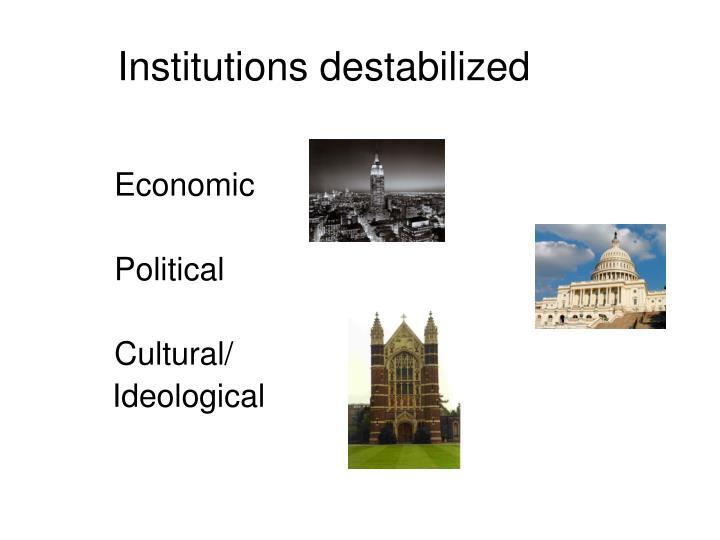 Institutions destabilized