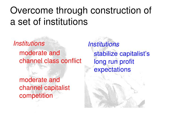 Overcome through construction of a set of institutions