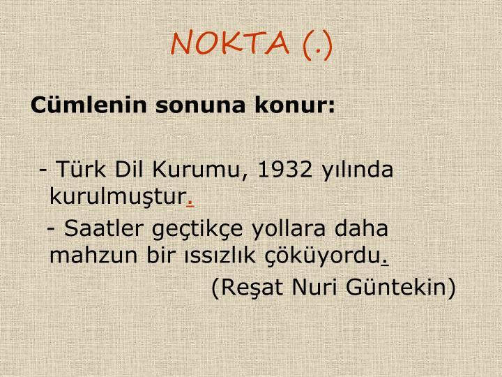NOKTA (.)
