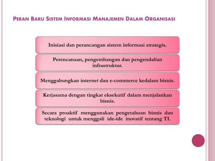 Peran Baru Sistem Informasi Manajemen Dalam Organisasi