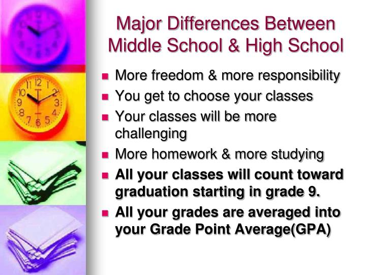 Major Differences Between Middle School & High School