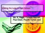 making the leap to high school