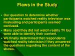 flaws in the study