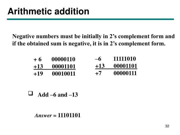 Arithmetic addition