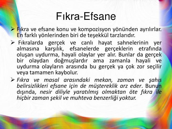 Fıkra-Efsane