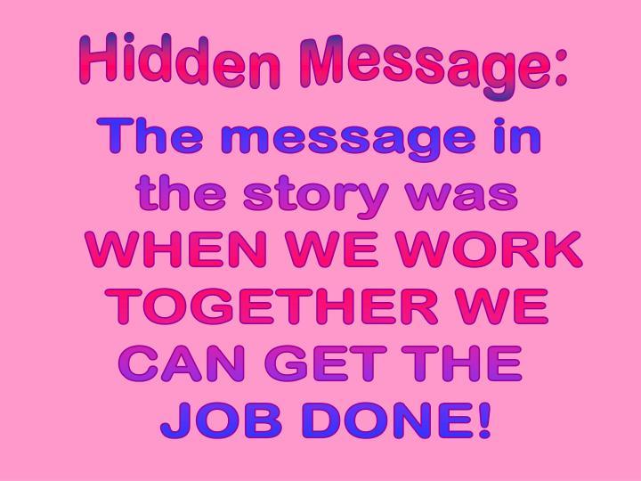 Hidden Message: