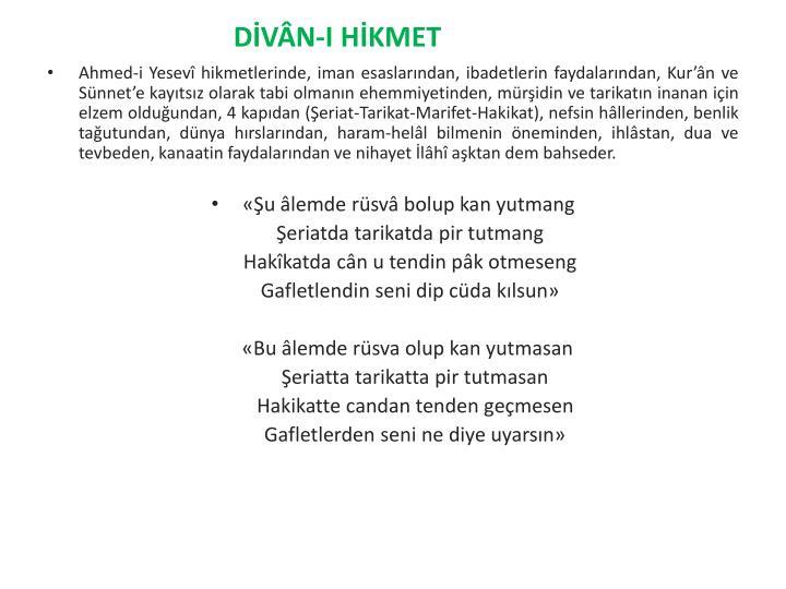 DİVÂN-I HİKMET
