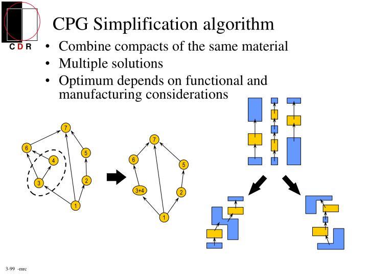 CPG Simplification algorithm