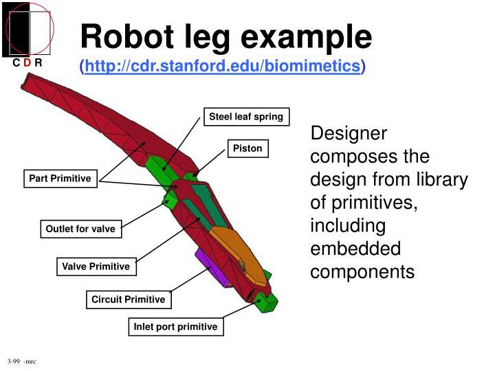 Robot leg example