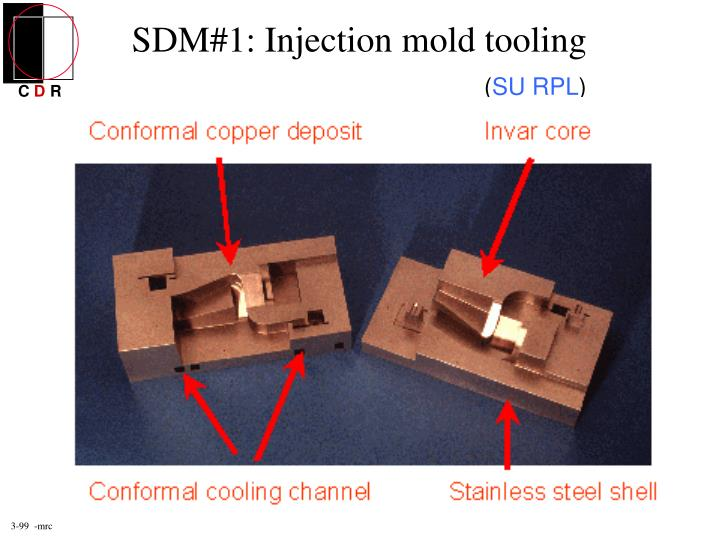 SDM#1: Injection mold tooling
