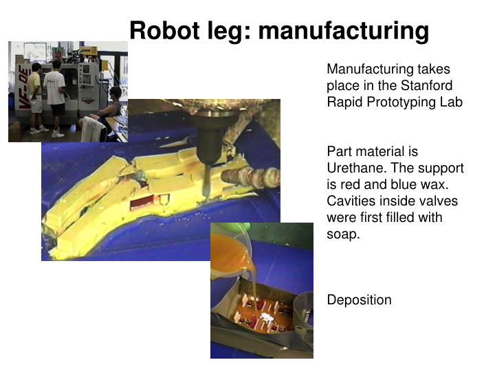Robot leg: manufacturing