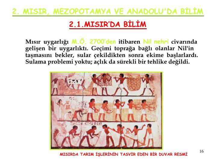 2. MISIR, MEZOPOTAMYA VE ANADOLU'DA BİLİM