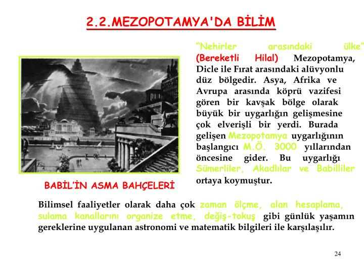 2.2.MEZOPOTAMYA'DA BİLİM