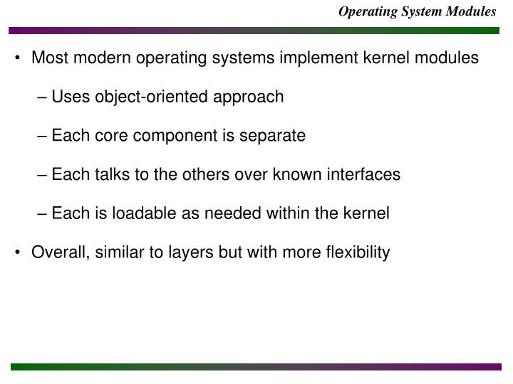 Operating System Modules