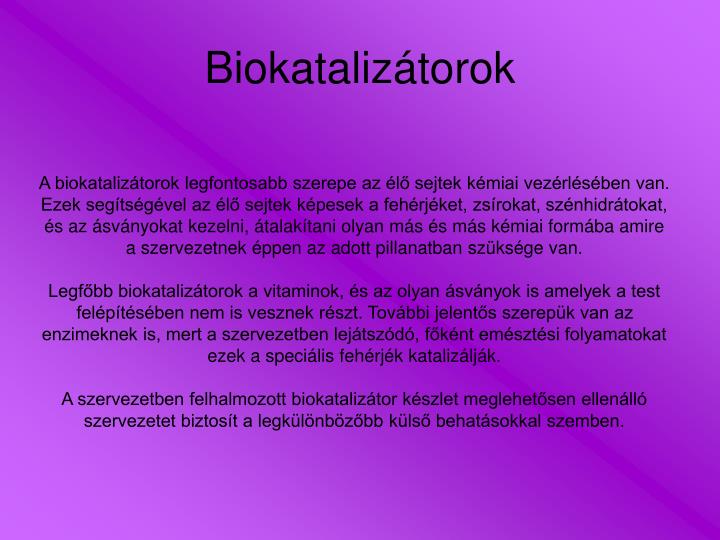 Biokatalizátorok