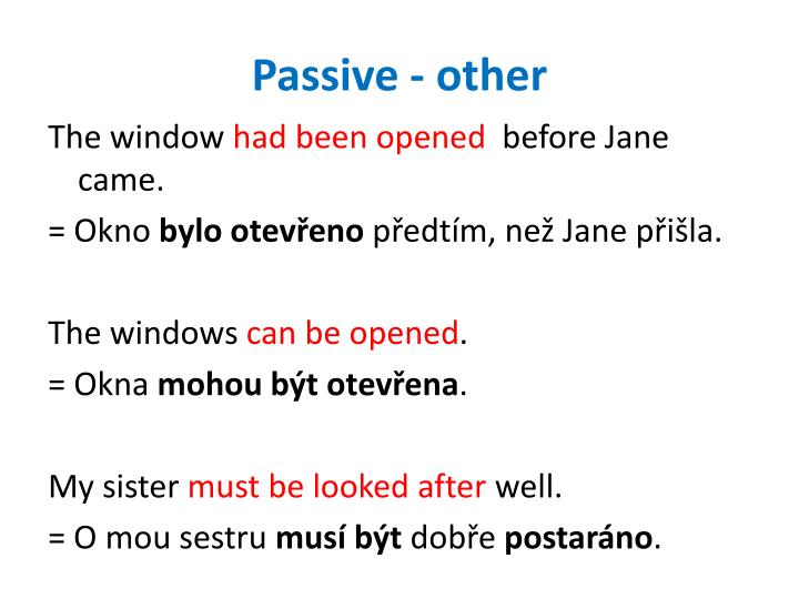 Passive - other