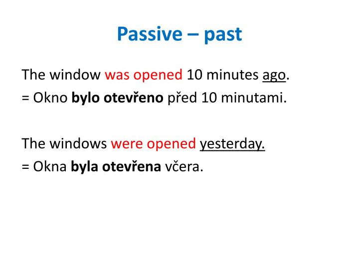 Passive – past