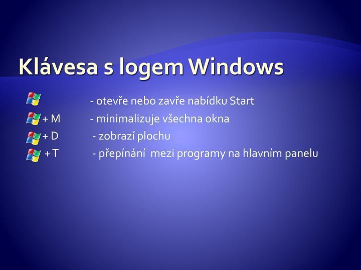 Klávesa s logem Windows