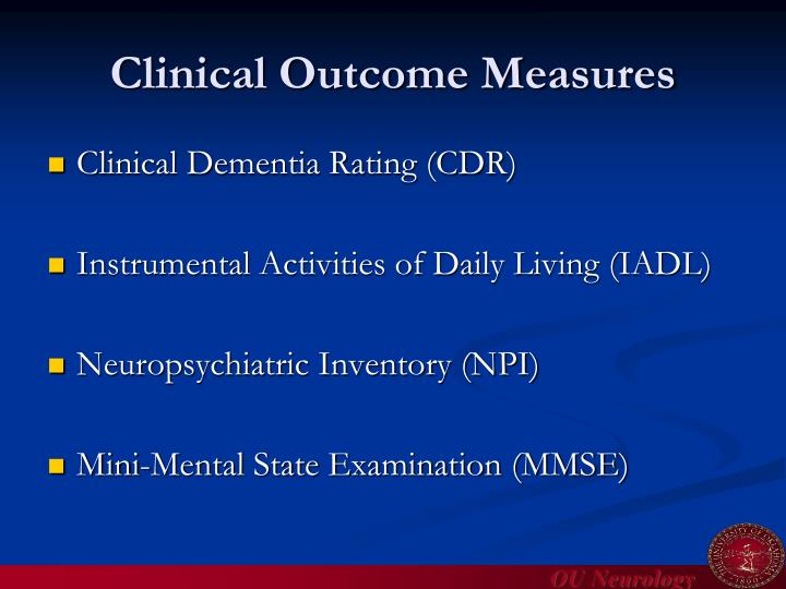 Clinical Outcome Measures
