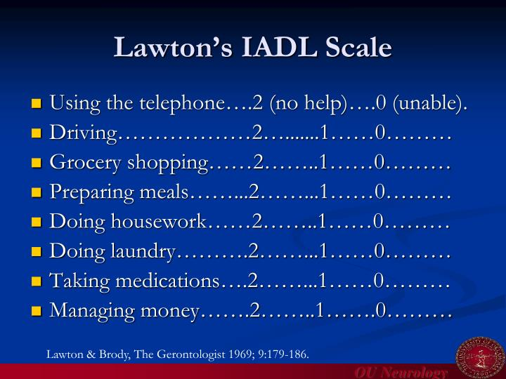 Lawton's IADL Scale