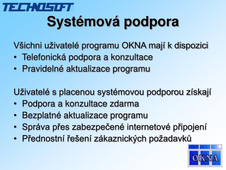 Systémová podpora