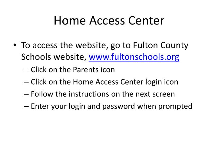 Home Access Center