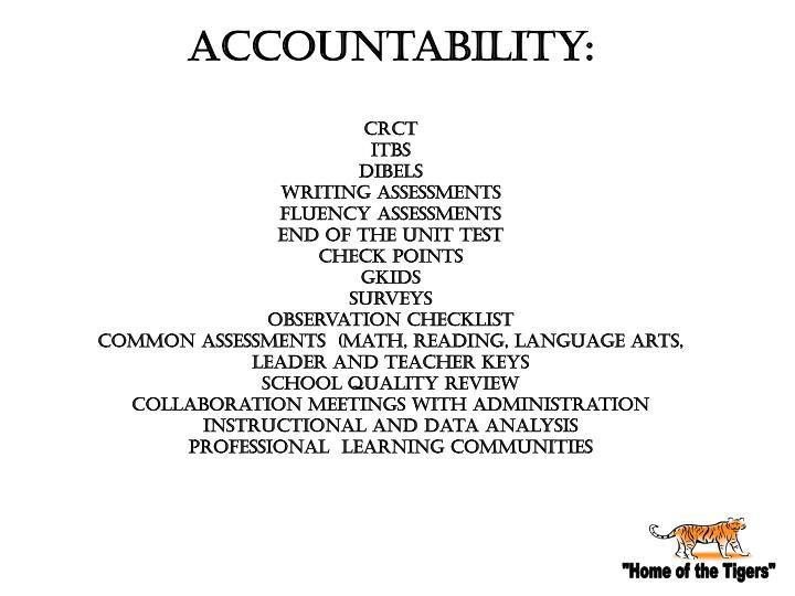 Accountability: