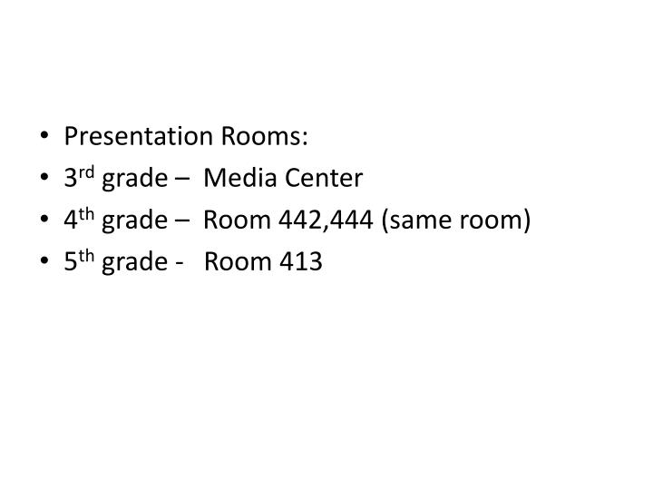 Presentation Rooms: