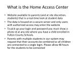 what is the home access center