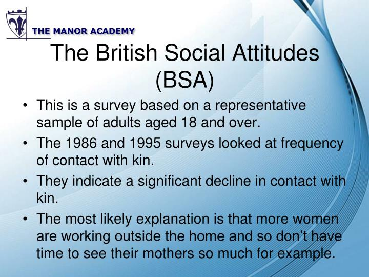 The British Social Attitudes (BSA)