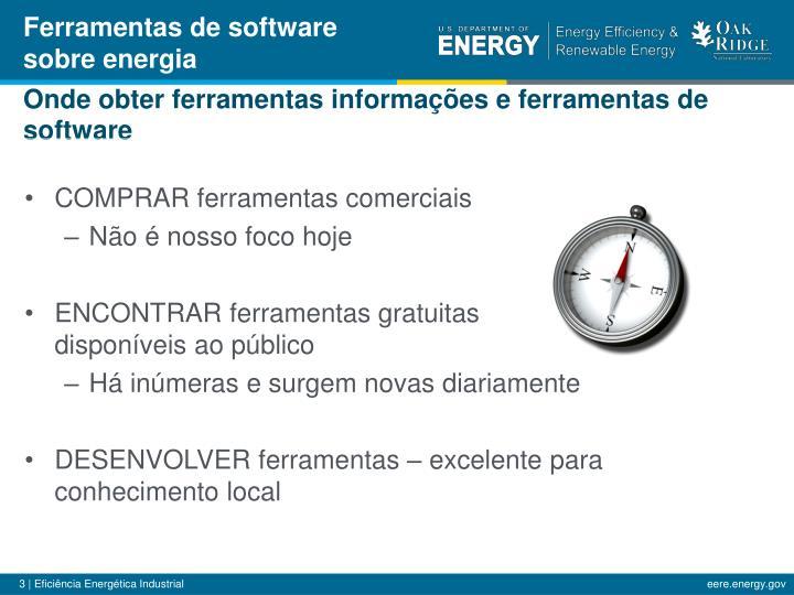 Ferramentas de software sobre energia