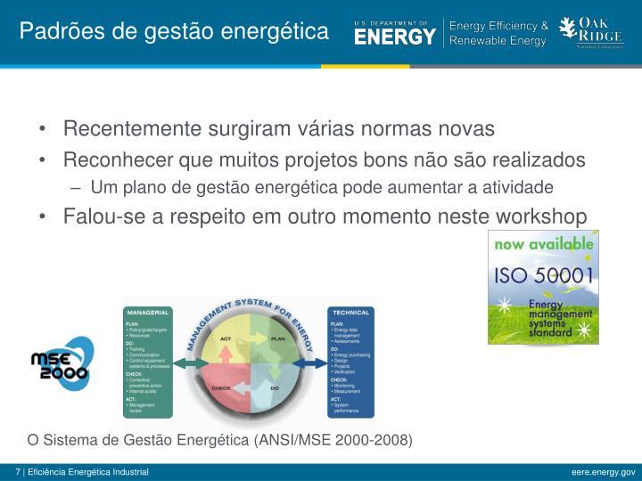Padrões de gestão energética