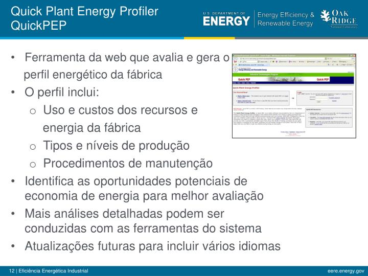 Quick Plant Energy Profiler
