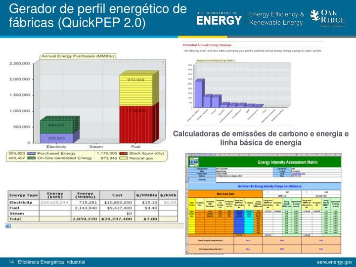 Gerador de perfil energético de fábricas (QuickPEP 2.0)