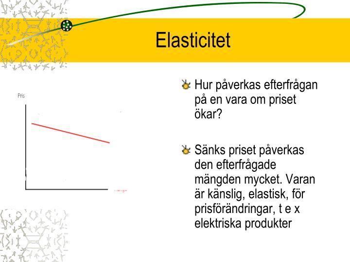 Elasticitet