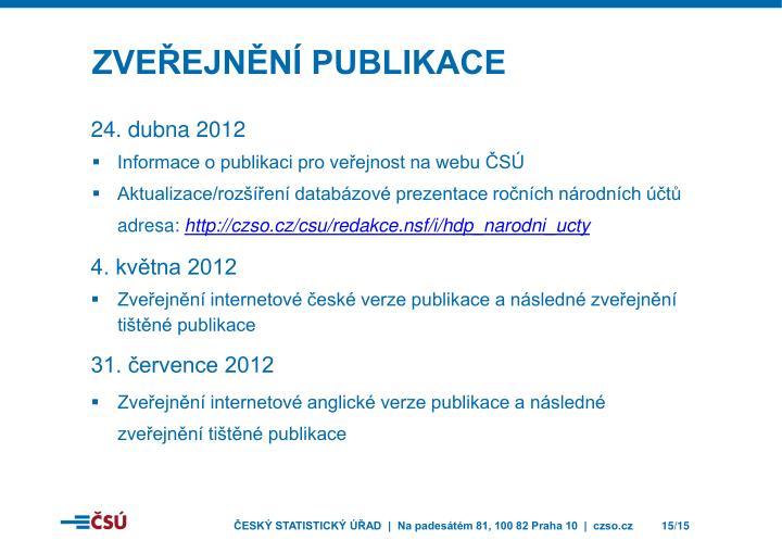 Zveřejnění publikace