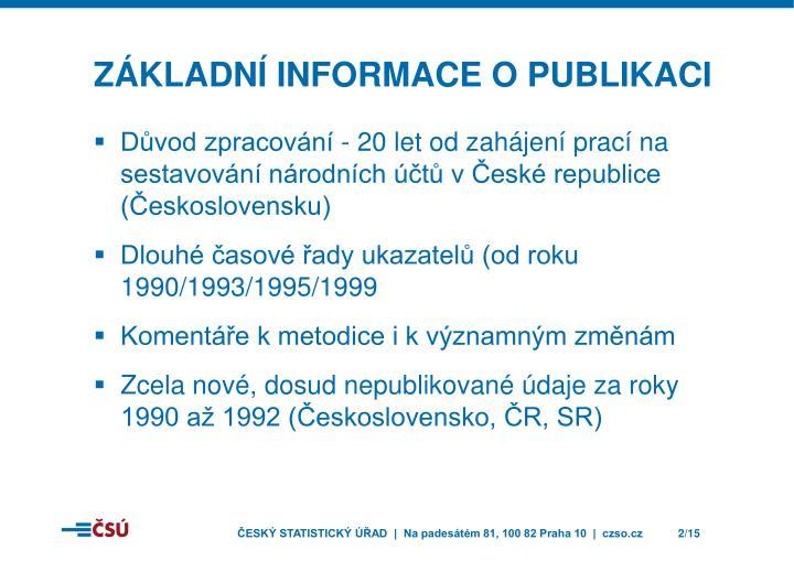 Základní informace o publikaci