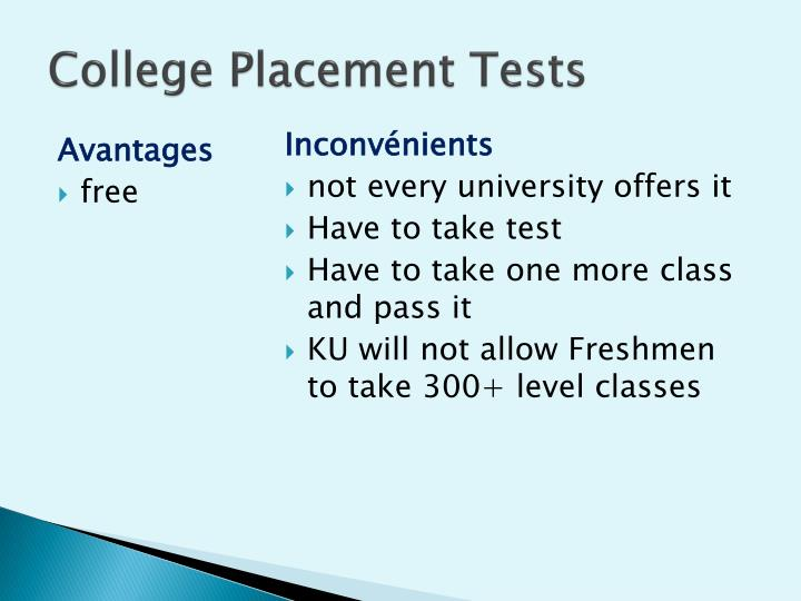 College Placement Tests