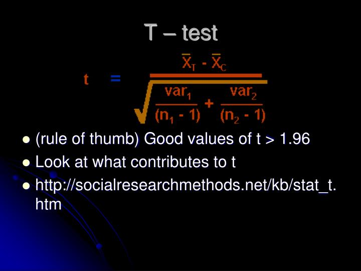 T – test