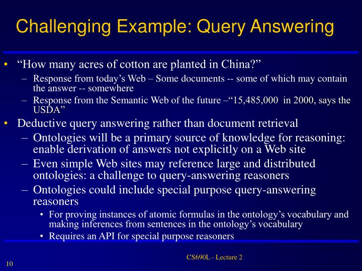 Challenging Example: Query Answering