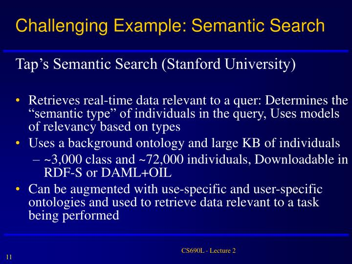 Challenging Example: Semantic Search