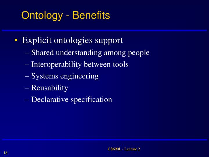 Ontology - Benefits